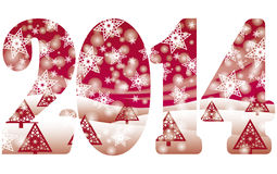 Happy New 2014 Year invitation banner Royalty Free Stock Image