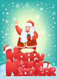 Happy new year 2017 invitation card with santa claus character making selphie. Happy new year 2017 invitation card with santa claus charactermaking selphie Stock Photography