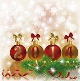 Happy New 2014 Year invitation card. Vector illustration Royalty Free Illustration