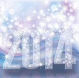 Happy New 2014 Year invitation card. Vector illustration Royalty Free Stock Photo