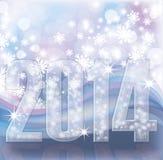 Happy New 2014 Year invitation card. Vector illustration stock illustration
