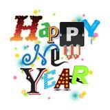 Happy New Year invitation Royalty Free Stock Photography