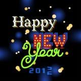 Happy New Year invitation Stock Photos