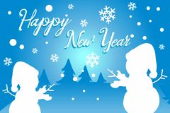 Happy new year. Invitation or greeting card royalty free stock photos
