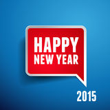 Happy new year 2015. Isolated royalty free illustration