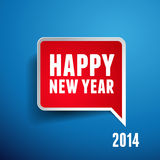 Happy new year 2014. Isolated Stock Photography