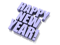 Happy New Year isolated 3D Royalty Free Stock Photo