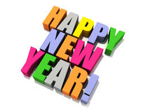 Happy New Year isolated 3D Royalty Free Stock Photography