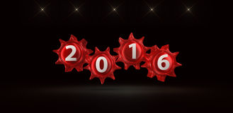 2016 Happy New Year,isolated on black Royalty Free Stock Photos