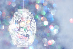 Happy new year Japanese style and Chinese style Stock Images