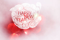 Happy new year Japanese style and Chinese style Stock Photos