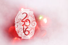 Happy new year 2016 Japanese style and Chinese style Royalty Free Stock Images