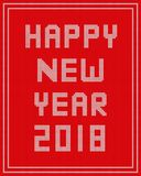 Happy New year knitted on red background design. Happy New year knitted on red background vector design for holiday royalty free illustration