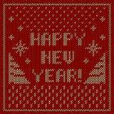 Happy new year knitting background Royalty Free Stock Photos