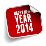 Happy new year 2014. Label Stock Image