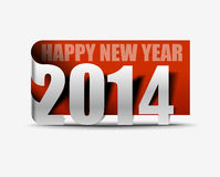 Happy New Year 2014. Label Design Stock Image