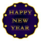 "Happy New Year label. ""Happy New Year"" label/star on a white background Royalty Free Stock Photos"