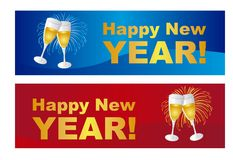 Happy new year labels Royalty Free Stock Image