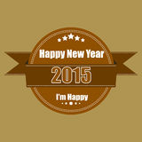 Happy new year 2015  labels vintage Stock Photography
