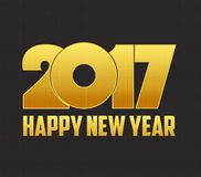 Happy New Year 2017 with led Stock Photography