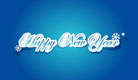 Happy New Year lettering. Vector illustration Stock Photography