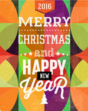 Happy New Year lettering composition. Happy New Year composition. Colorful vector illustration on bright background Royalty Free Stock Images