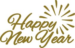 Happy new year lettering composition Stock Photos