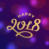 Happy new year 2017 lettering greeting card design. Happy new year 2017 lettering greeting card Royalty Free Stock Photos