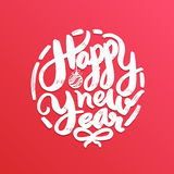 Happy New Year, lettering Greeting Card design text. Vector illu Stock Photos