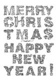 Happy New Year, lettering Greeting Card design Royalty Free Stock Images