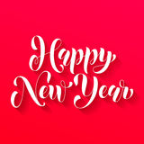 Happy New Year 2017 lettering greeting card. Happy New Year 2017 lettering holiday greeting card. Vector hand drawn festive text New Year for banner, poster Royalty Free Stock Photography
