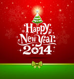 Happy New Year 2014 lettering Royalty Free Stock Image