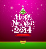 Happy New Year lettering Greeting Card Royalty Free Stock Images