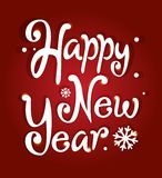 Happy New Year lettering Stock Image