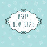 Happy New Year lettering Greeting Card Stock Photos