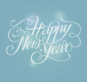 Happy New Year lettering Greeting Card. Royalty Free Stock Photos