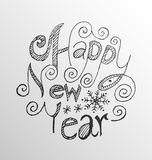 Happy new year lettering. Stock Photography