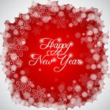 Happy New Year lettering Greeting  Card. Vector illustration Royalty Free Stock Images