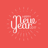 Happy New Year 2017 lettering Greeting Card. Vector illustration.  Royalty Free Stock Photography