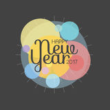 Happy New Year 2017 lettering Greeting Card. Vector illustration.  Royalty Free Stock Photo