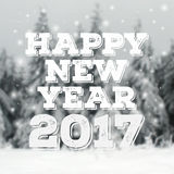 Happy New Year lettering Greeting Card. Royalty Free Stock Photo