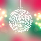 Happy New Year lettering Greeting Card. royalty free illustration