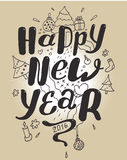 Happy new year lettering for greeting cards Royalty Free Stock Photography
