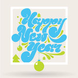 Happy new year lettering for greeting cards Stock Photo