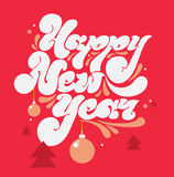 Happy new year lettering for greeting cards Stock Photos
