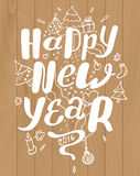 Happy new year lettering for greeting cards Royalty Free Stock Images