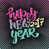 Happy new 2017 year lettering Royalty Free Stock Image