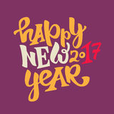 Happy new 2017 year lettering Stock Photo