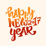Happy new 2017 year lettering Royalty Free Stock Images