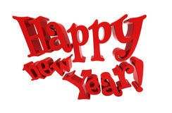 Happy new year lettering isolated Royalty Free Stock Image